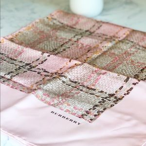Blush Burberry Silk Scarf